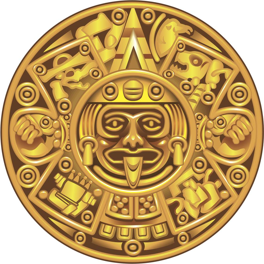 Maia Mayan Sun Black White Line Art Coloring Sheet Colouring Page ...